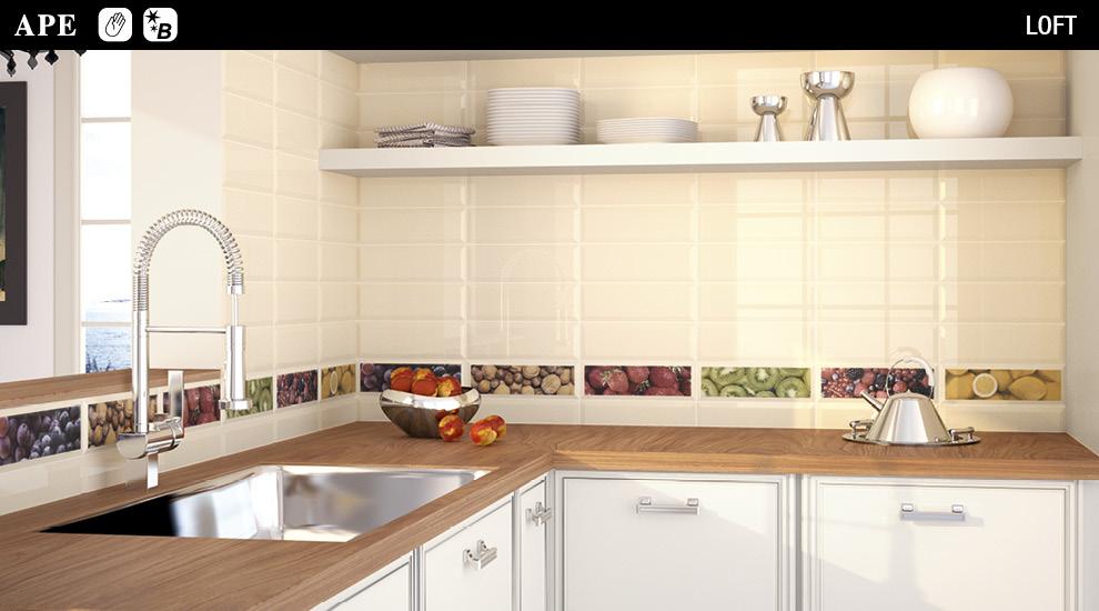 Azulejos decorados para cocina elegant azulejos para cocina y bao decoracin patriblanco with - Azulejos cocina ...