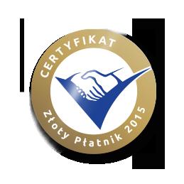 Certyfikat Złoty Płatnik 2015